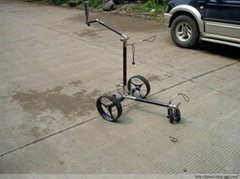 Electric carbon golf trolley with built-in controller