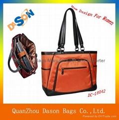 Fashion Leather Lady Business Laptop Handbag