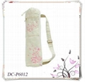 Drawstring Cotton Canvas Yoga Bag With Zipper Pocket