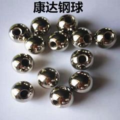 厂家定制加工5mm-25mm打孔攻牙螺纹环保装饰钢球钢珠