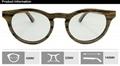 Round wood frame optical eye glasses women fashion 5