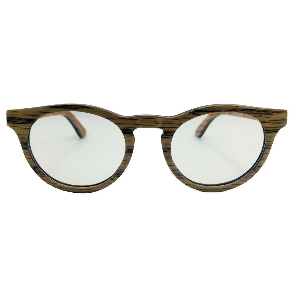 Round wood frame optical eye glasses women fashion 2