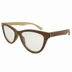 New Fashion Wood Myopia Eye Glasses