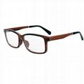 wood with aluminum eye glasses frame for