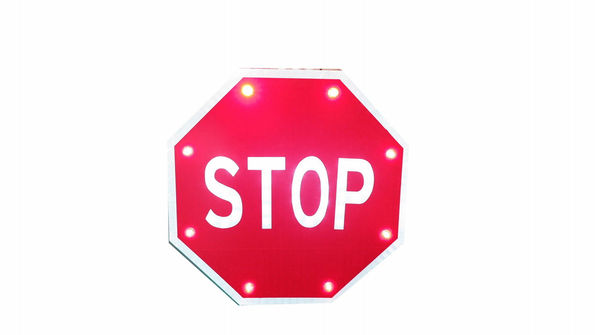 Solar traffic sign schoolbus stop sign road safety marker 5