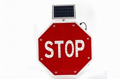 Solar traffic sign schoolbus stop sign road safety marker
