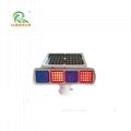 Solar warning light traffic lighting