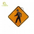 IP68 road safety solar powered aluminum led pedestrian crossing traffic signs  1