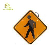 IP68 road safety solar powered aluminum led pedestrian crossing traffic signs
