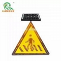 IP68 road safety solar powered aluminum led pedestrian crossing traffic signs  3