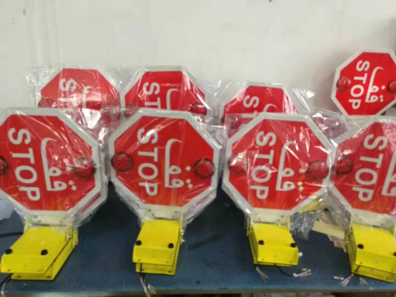Solar traffic sign schoolbus stop sign road safety marker 2