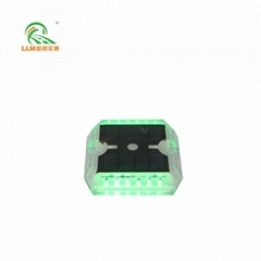 Plastic solar powered road stud cats eye