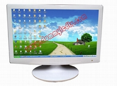 "22 ""Office furniture white ultra-thin dummy LED display"