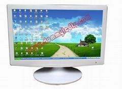19寸辦公傢具白色超薄LED顯示器模型