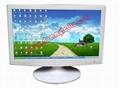 "24""Office furniture white ultra-thin dummy LED display"