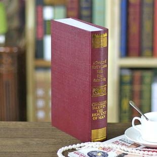 歐式燙金仿真書 裝飾書假書 攝影新房書房書櫃道具 假書模書盒 4
