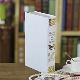 歐式燙金仿真書 裝飾書假書 攝影新房書房書櫃道具 假書模書盒 5