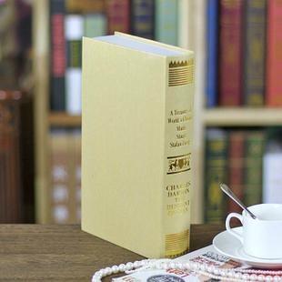 欧式烫金仿真书 装饰书假书 摄影新房书房书柜道具 假书模书盒 1