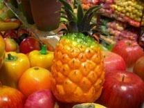 Simulation of fruit (grapes)