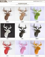 原木艺术 ——  鹿头