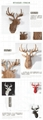 MDF wood Deer head home decoration, home decoration gift crafts