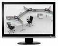 22寸辦公傢具白色超薄LED顯示器模型 3