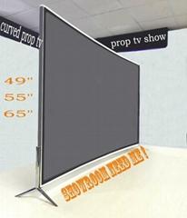 """49""""軟裝展廳曲面電視模型 仿真電視 道具電視"""