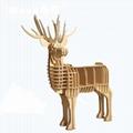 麋鹿頭壁挂原木動物頭牆飾壁飾田