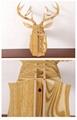 創意飛天獨角獸裝飾自然原木色簡約北歐風格積木拼裝組裝動物壁飾 4