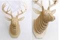 創意飛天獨角獸裝飾自然原木色簡約北歐風格積木拼裝組裝動物壁飾 5