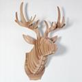 创意飞天独角兽装饰自然原木色简约北欧风格积木拼装组装动物壁饰 11