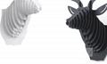 創意飛天獨角獸裝飾自然原木色簡約北歐風格積木拼裝組裝動物壁飾 13