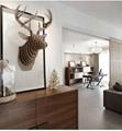 創意飛天獨角獸裝飾自然原木色簡約北歐風格積木拼裝組裝動物壁飾 16