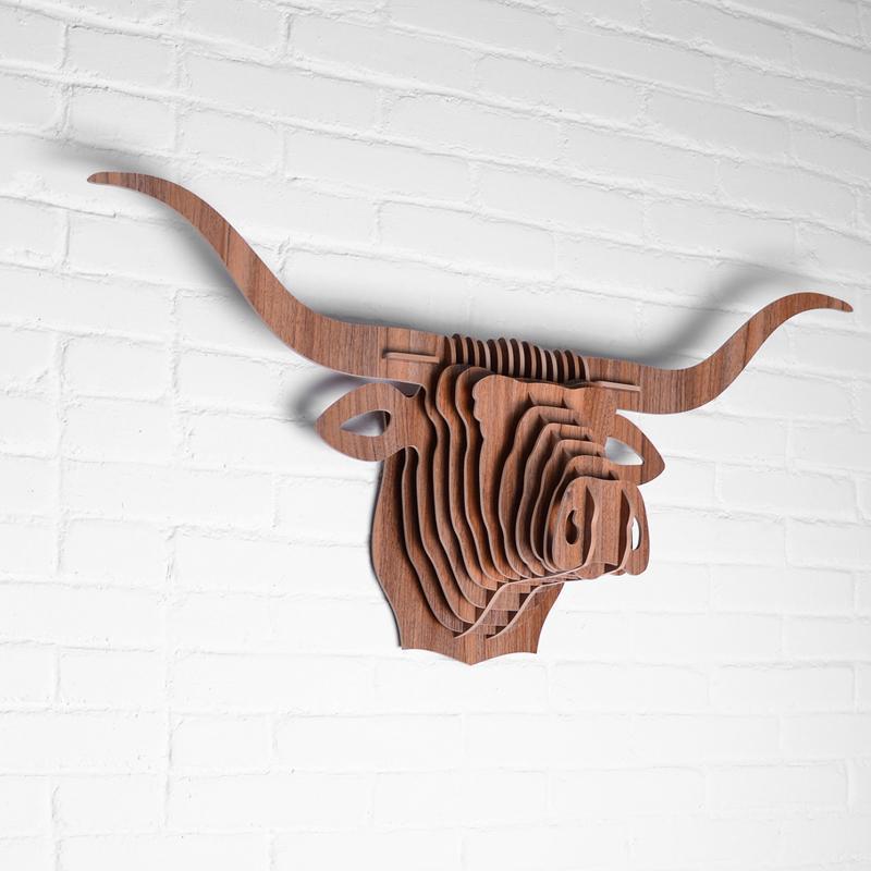 創意飛天獨角獸裝飾自然原木色簡約北歐風格積木拼裝組裝動物壁飾 17