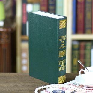 歐式燙金裝飾書籍 裝飾書 仿真書 道具書 假書 模型 3