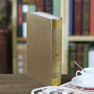 歐式燙金裝飾書籍 裝飾書 仿真書 道具書 假書 模型 4