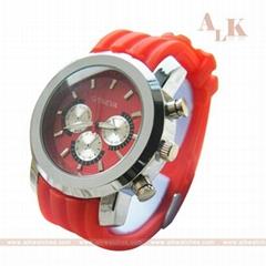 ladies fashion geneva quartz watches(silicone watches).