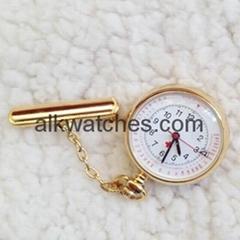 金色日曆護士手錶/護士挂表/懷表