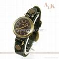 vintage cow leather bracelet antique fashion watch 2