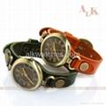 vintage cow leather bracelet antique fashion watch 3