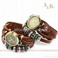 vintage cow leather bracelet antique fashion watch 5