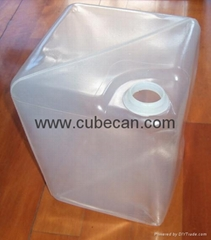 Interior plastic bag in the metal cans