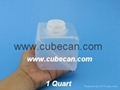 1 quart cube with 38mm screw cap