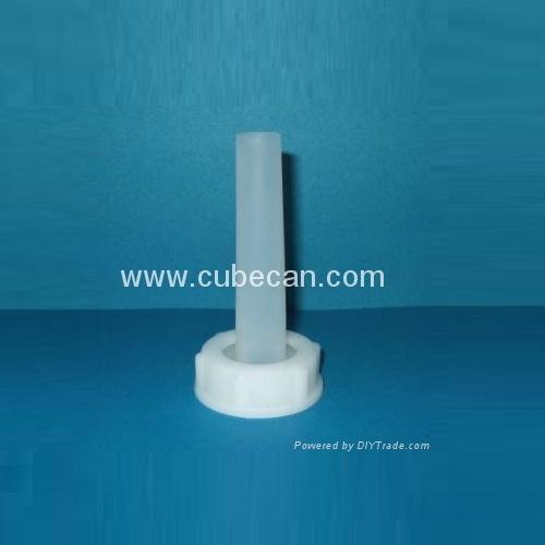 long tube spout cap for cubitainer