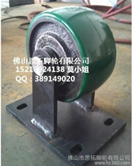 Extra Heavy duty industrial cast iron PU wheel