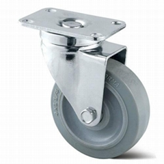 4 inch swivel silent rubber tpr caster wheel for trolleys,dolly,hand cart