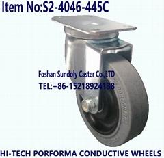 中型4寸电子设备导电万向轮