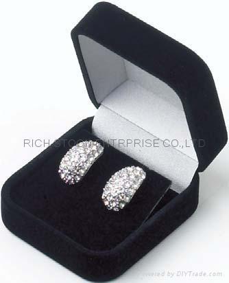 velvet jewelry box velvet earring box velvet gift box 1