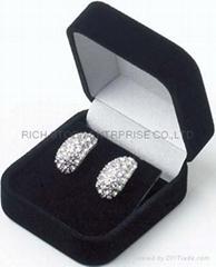 絨布珠寶盒 絨布耳環盒 絨布墜飾盒
