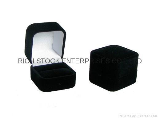 绒布坠饰盒 绒布戒指盒 1
